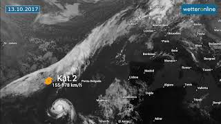 So zog Hurrikan OPHELIA auf (17.10.2017)