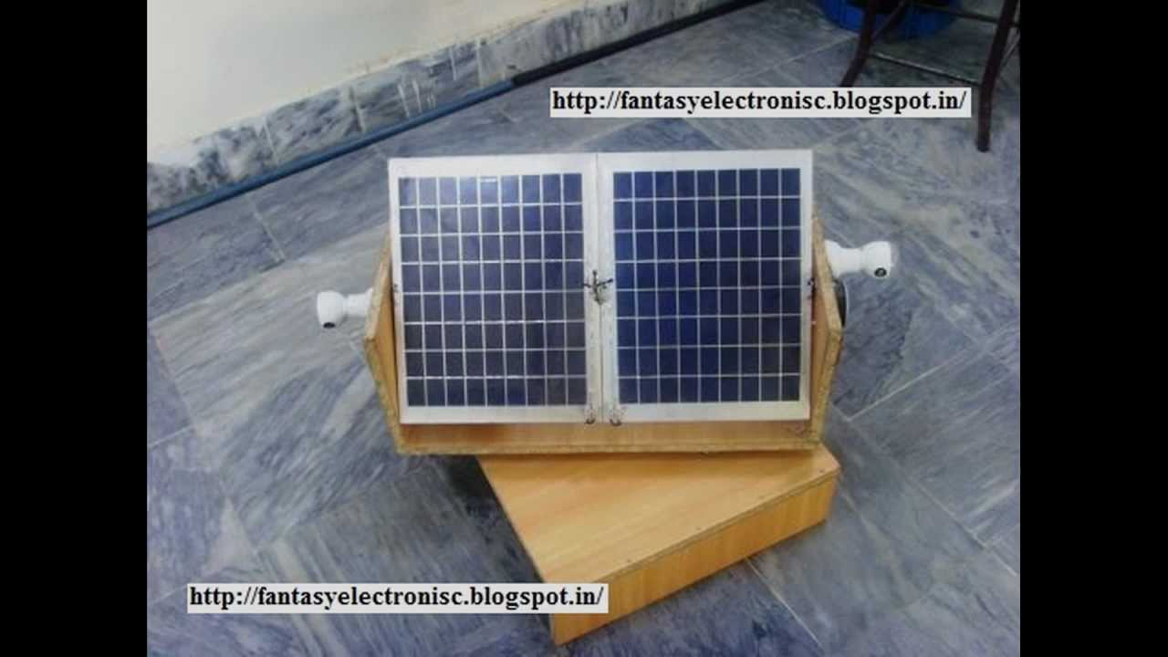 automatic solar tracking system with plete project