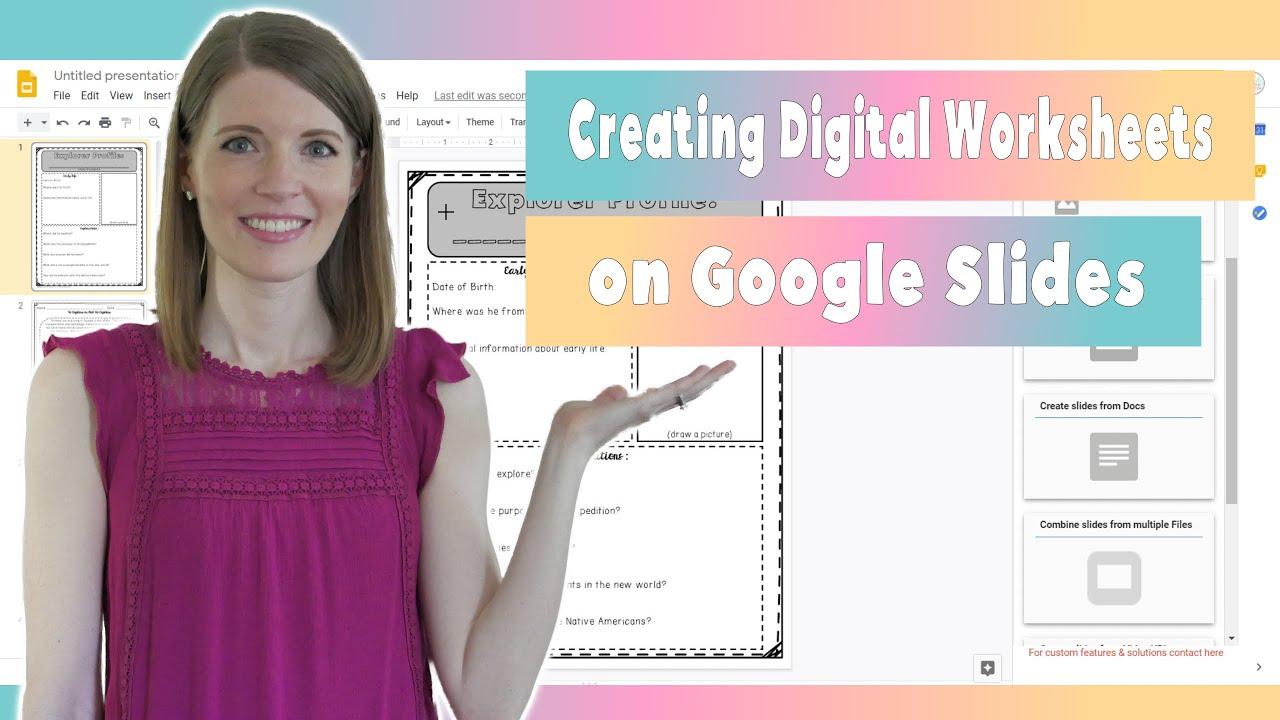 Download Creating Digital Worksheets on Google Slides