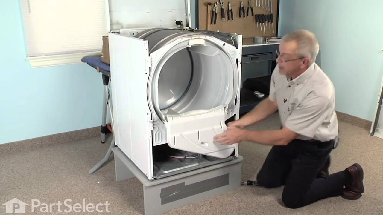 medium resolution of dryer repair replacing the dryer drum glide whirlpool part 37001298 youtube