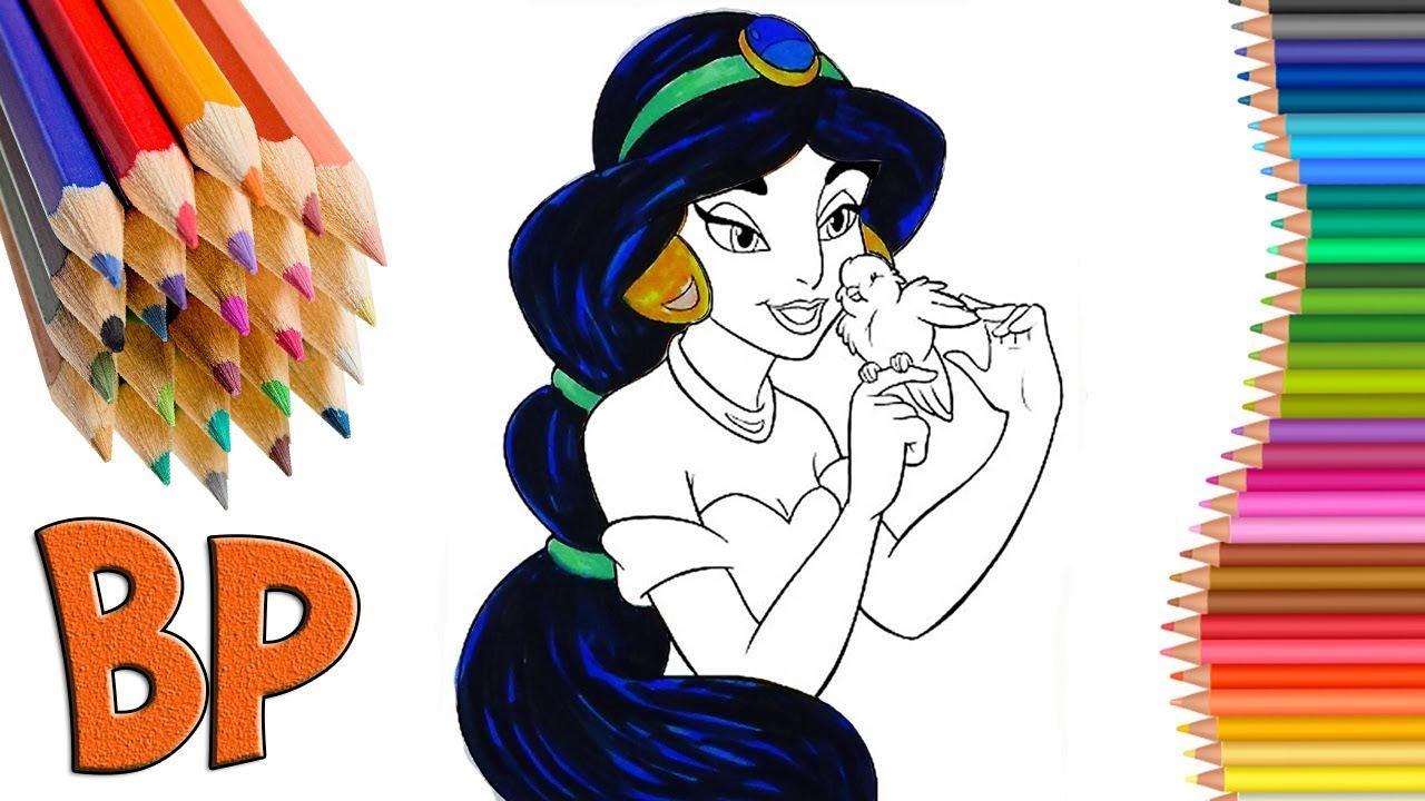Принцесса Жасмин раскраска Аладдин 2019 Дисней Princess ...