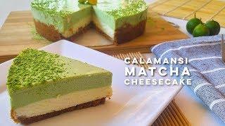 No-Bake Calamansi Matcha Cheesecake Recipe  Philippine Lime Matcha Cheesecake