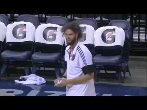 Robin Lopez vs NBA Mascots Compilation