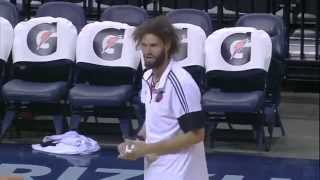 Robin Lopez vs NBA Mascots Compilation