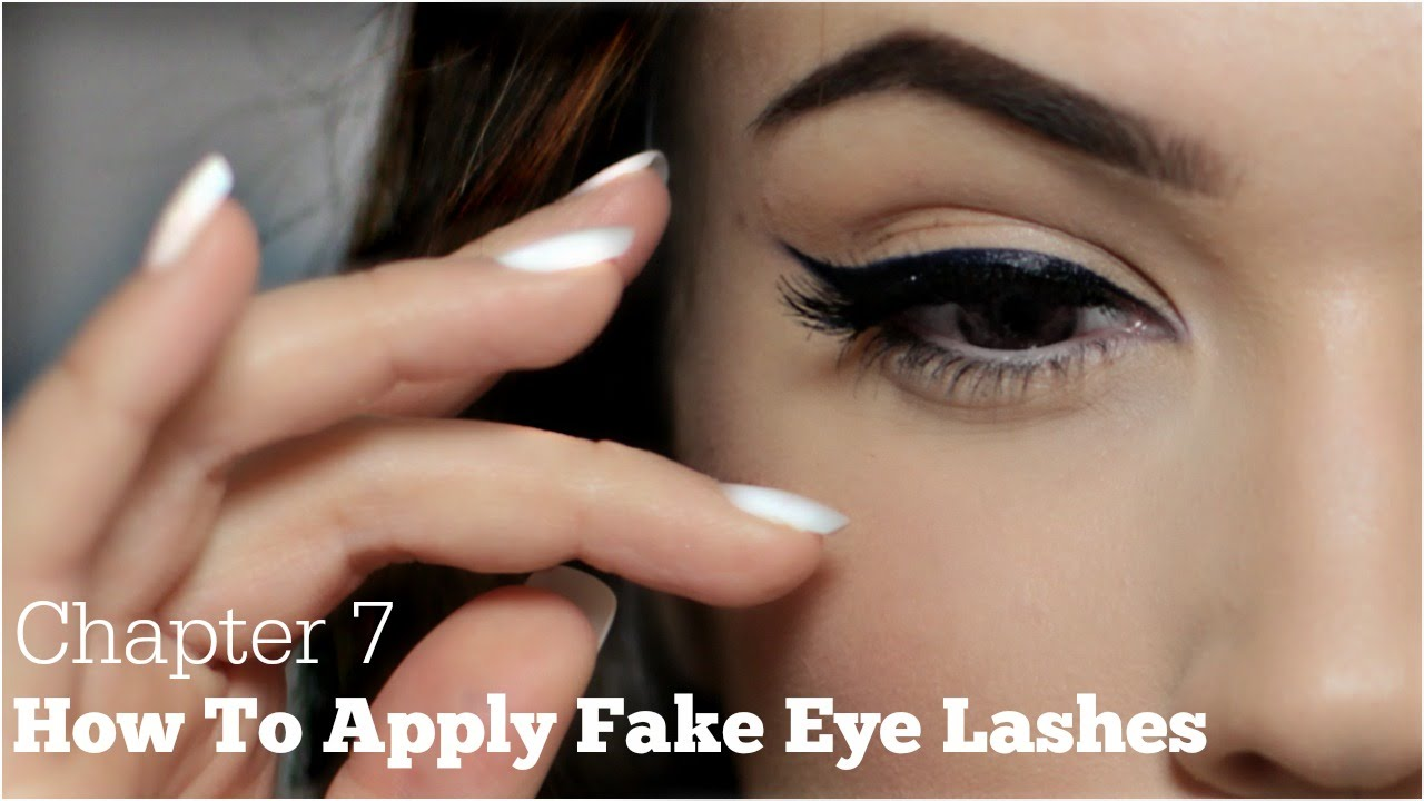 How To Apply False Eyelashes For Beginners Chapter 7 Youtube