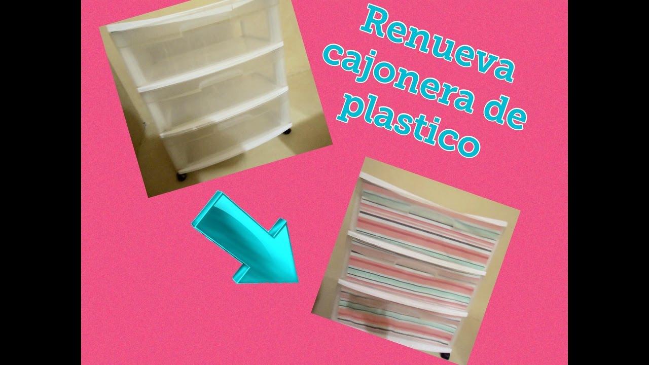 Idea para renovar cajonera de plastico y sea mas funcional for Cajoneras de plastico