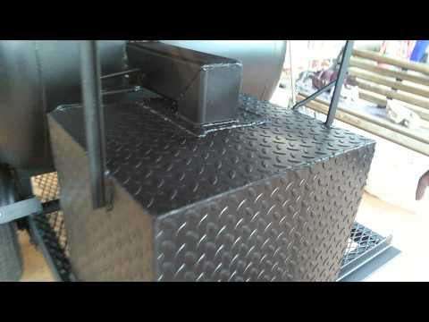 Man Of Steel Grill 120 Potbelly Smoker On Trailer