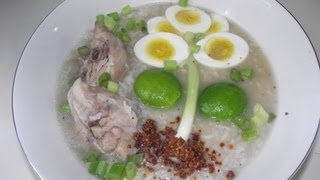 Arroz Caldo Con Pollo (rice Soup With Chicken) Lugaw