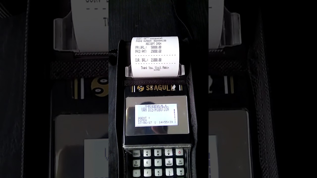 FMCG Distributor Billing Machine with Payment Collection (Model - KIMOZ,  Brand - THE SEAGULL)