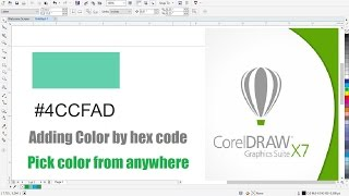 Adding Color by Hex Code to Corel Draw Project