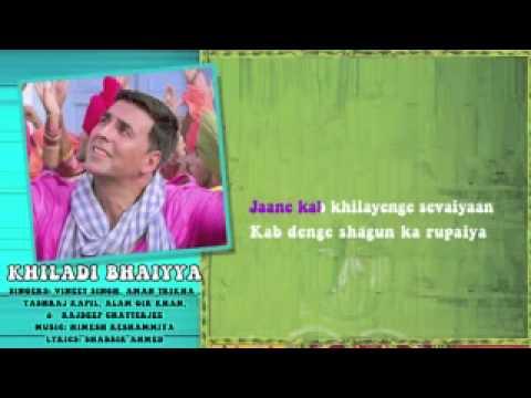Khiladi Bhaiyya   Full Song with Lyrics   Khiladi 786