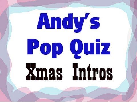 Pop Quiz No31 - 10 Xmas Intros