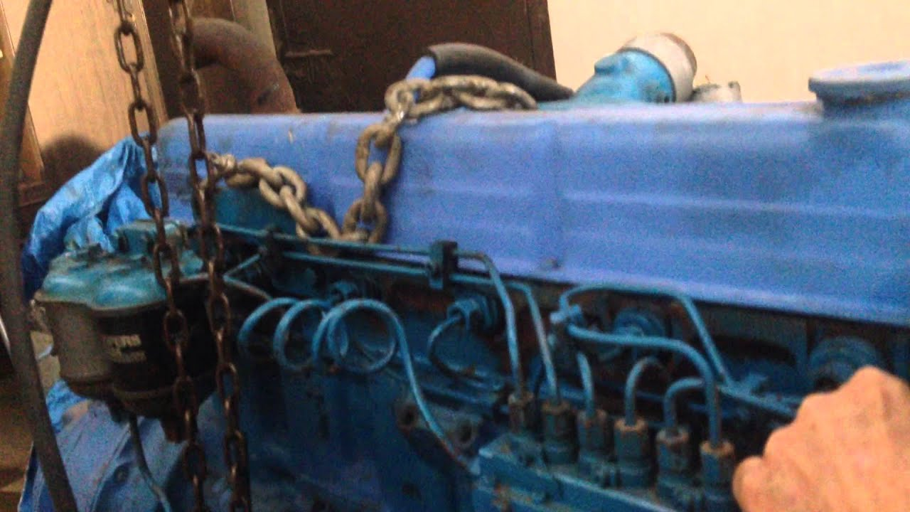 ford 120 hp blue marine diesel engine test run