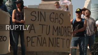 Mexico: Thousands protest against gas prices, call for Pena's resignation