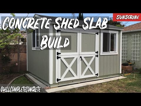 How to Pour a Concrete Shed Slab for Tough Sheds DIY!