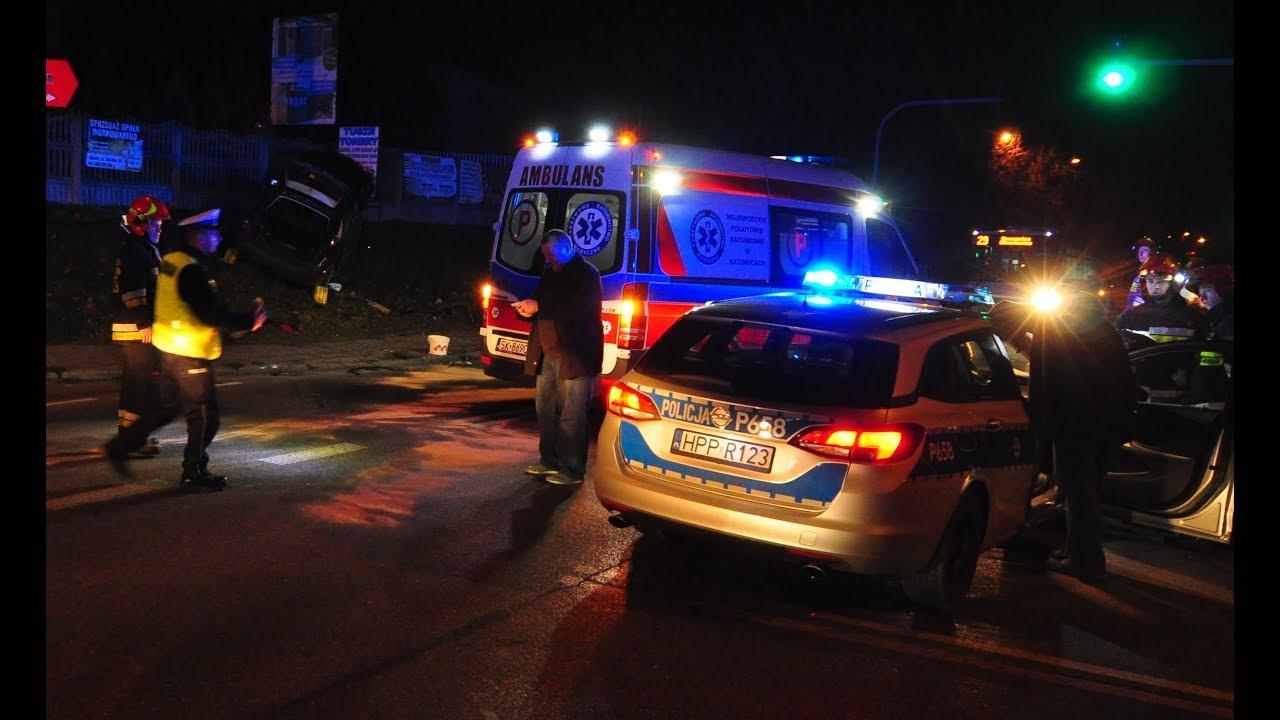 Wypadek na skrzyżowaniu Zebrzydowickiej i Buhla w Rybniku