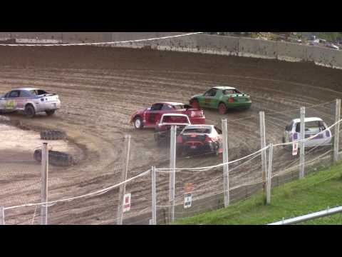 Old Bradford Speedway Mini Stock Heat Races 8-6-17