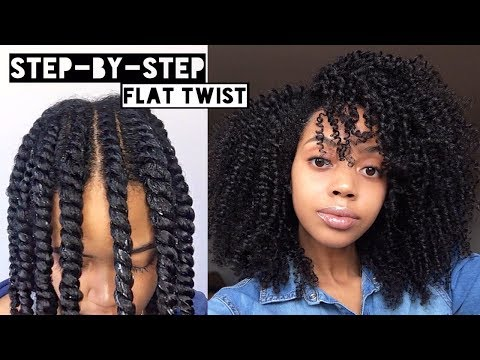 How To   Flat Twist Out  on Natural Hair   Cool Calm Curly