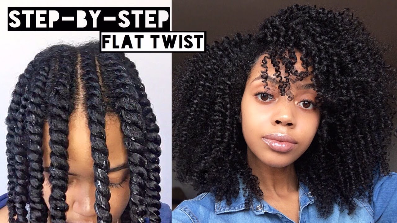 How To Flat Twist Out On Natural Hair Cool Calm Curly Youtube