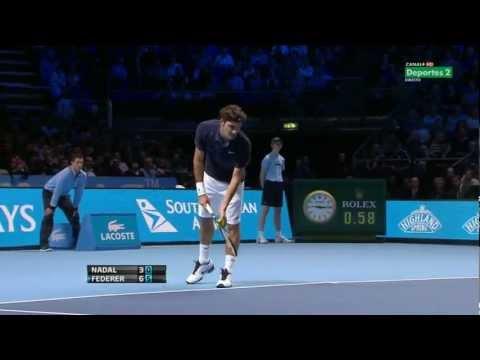Federer-Nadal ATP World Tour Finals RR 2011 HD HLTS