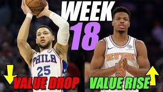 Week 18 Fantasy Basketball Update - Value Rise/Value Drop/Waiver Wire Pickups 2019