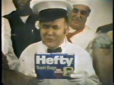 Jonathan Winters 1978 Hefty 2 Ply Trash Bag Commercial