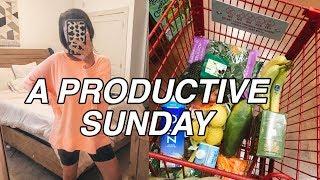 SUNDAY VLOG: productive morning, grocery shopping, + self care