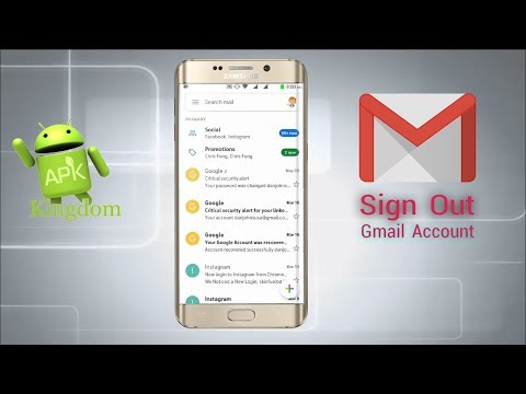 How To Sign Out Gmail Account From Gmail App On Android Mobile Phone 2019 Update