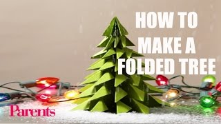 How to Make a Folded Tree (from FamilyFun)