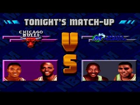 NBA Jam XXX PROTOTYPE SNES Playthrough - Chicago Bulls vs Dallas Mavericks