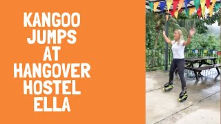 Kangoo Jumps at Hangover Hostel Ella Sri Lanka