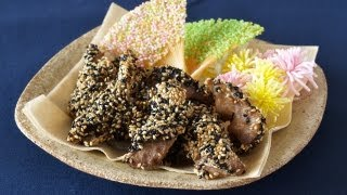 How To Make Deep-fried Mackerel Coated With Sesame Seeds (recipe) さばの胡麻から揚げ (レシピ)