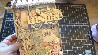 Shadow Box and Altered Coupon Book