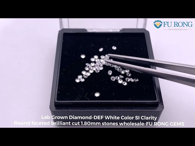 Lab grown diamond DEF White Color SI Round Brilliant Cut 1.80mm melee stones wholesale