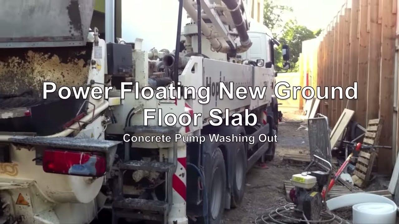 Power Floating Concrete Floor Slab Youtube