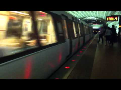 Two Washington Metro Orange Line Trains at Farragut West Station