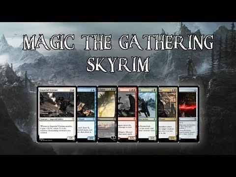 I Designed a Custom 'Skryim' Magic The Gathering Set!