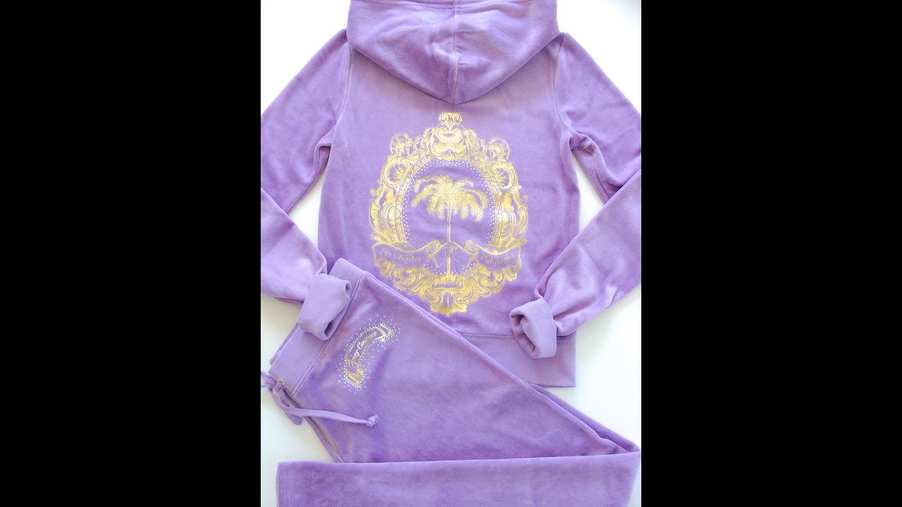 00a232f5e840 Juicy Couture Iconic Palm Velour Hoodie Pants Original Fit Tracksuit ...