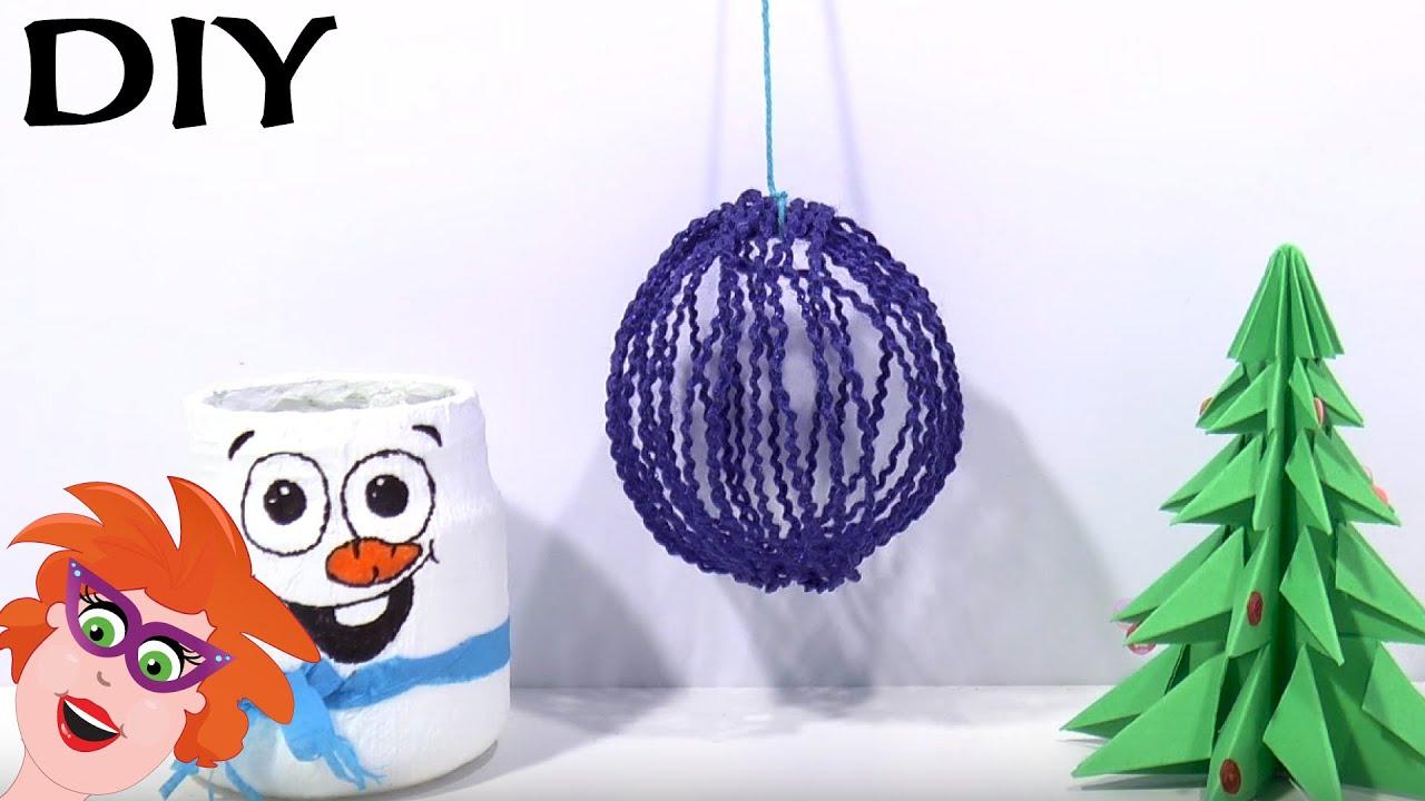 Kerstbal Knutselen Van Wol Youtube
