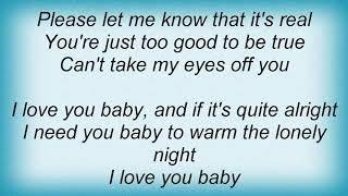 Andy Williams - Can't Take My Eyes Off You Lyrics