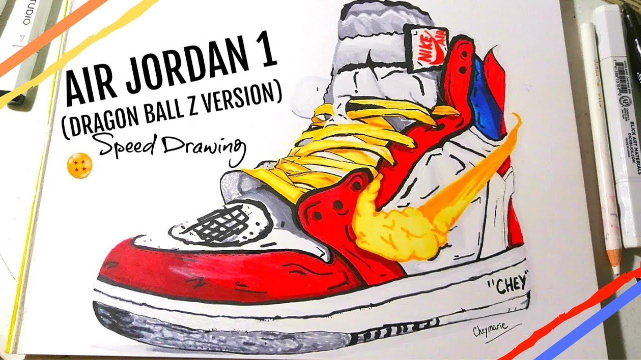 dragon ball z jordan 1s