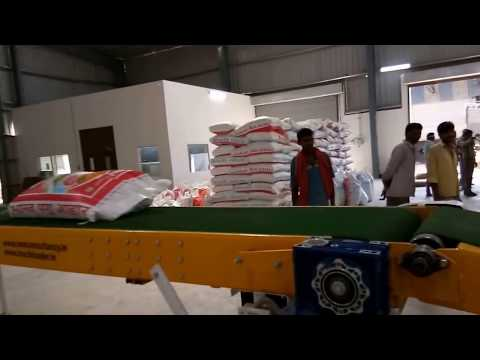 50 Kg Bag Conveying System @ Patanjali Cattle Feed Plant by MMC