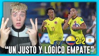 😱🇦🇷 ARGENTINO REACCIONA a 🇨🇴 COLOMBIA vs ARGENTINA 🇦🇷 2-2 ELIMINATORIAS SUDAMERICANAS 2022 🏆 FECHA 8