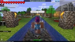 Minecraft In Roblox Survival! Player: Tinakot