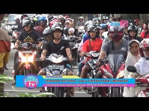 perayaan-lebaran-ketupat-trenggalek,-lalu-lintas-jalan-protokol-padat-merayap---bioz-tv