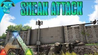 World War ARK - 2 Man Sneak Attack Raid on the Cliff Side Base! E12 ARK Survival Evolved