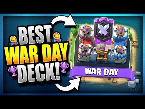 BEST 'WAR DAY' DECK for CLAN WARS!! Tips & Tricks - Deck Building - Clash Royale
