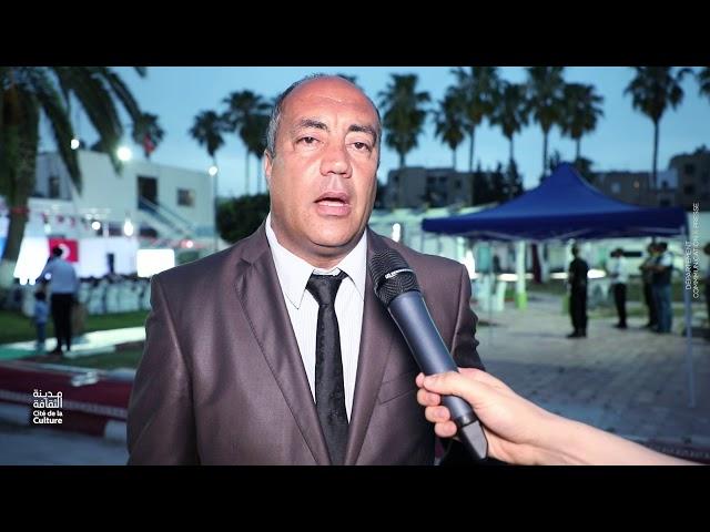 السيد سمير العلوي مدير اصلاحية المروج يتحدث عن التظاهرة الفنية التي احتضنها المركز