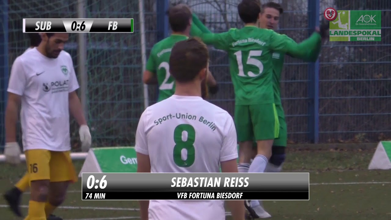 Aok Landespokal Achtelfinale Sport Union Berlin Vs Vfb Fortuna