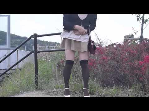 富士久美子 女装 パンチラ 新東名PA 野外